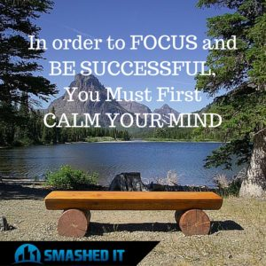 In order to FOCUS andBE SUCCESSFULYou Must FirstCALM YOUR MIND